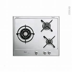Plaque De Cuisson Gaz Conforama : plaque de cuisson 3 feux gaz 60 cm email inox whirlpool ~ Melissatoandfro.com Idées de Décoration