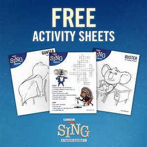 SING Movie Printables + Giveaway - Hits Theaters on ...