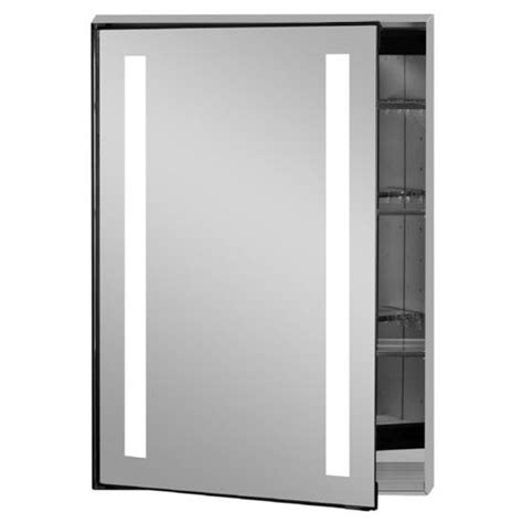 medicine cabinet with lights illume collection rectangle backlit led medicine cabinets