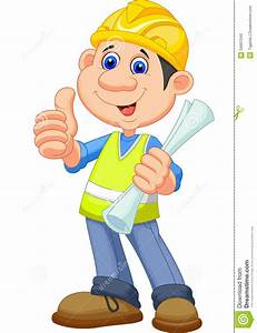 Cartoon Construction Worker Repairman Stock Vector ...