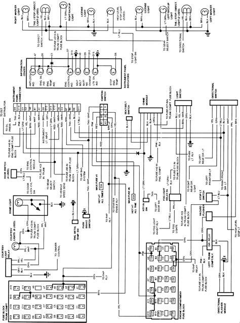 1993 cadillac gm ignition switch wiring diagram