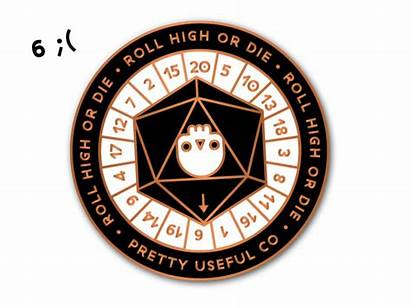 D20 Icon Roll Gartoon Enamel Spinner Library