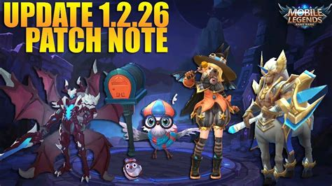 New Update 1.2.26 Patch Note Mobile Legends