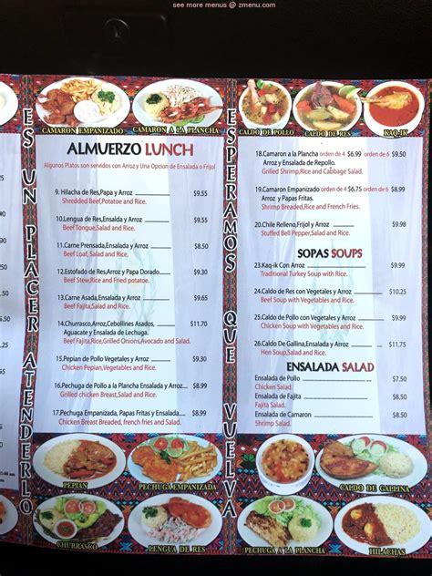 Online Menu of Guatemala Restaurant Restaurant, Houston ...