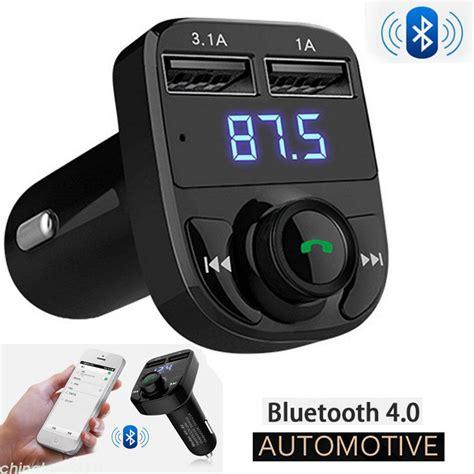 car bluetooth kit fm transmitter wireless radio adapter usb charger mp player ebay
