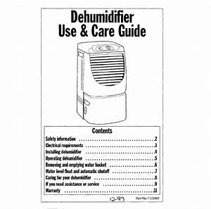 Whirlpool Dehumidifier User Manual