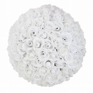 Boule De Rose : boules de roses blanches en location chez facile location r ception ~ Teatrodelosmanantiales.com Idées de Décoration