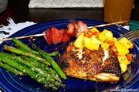 grouper blackened mango salsa cooking eggin edward fish say