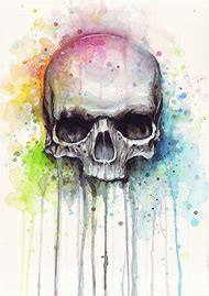 Cool Watercolor Paintings Skull