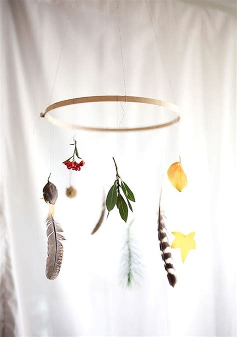 diy fall nature mobile lovely morning diy leaves