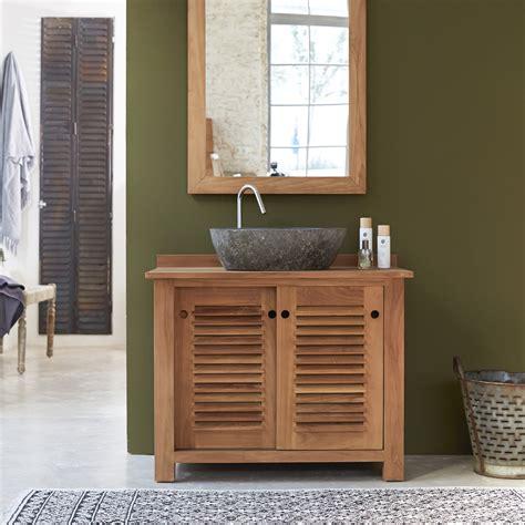 meubles salle de bain en teck meuble sous vasque coline