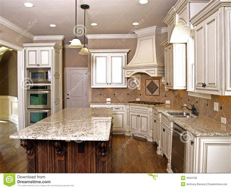 kitchen faucet prices luxury kitchen with granite topped island stock photo