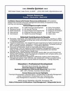 sample human resources resume sample resumes With free hr resume samples