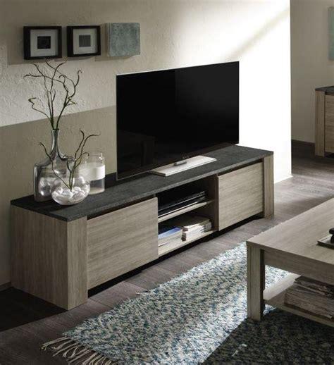 meuble tv couleur chne gris et imitation ardoise