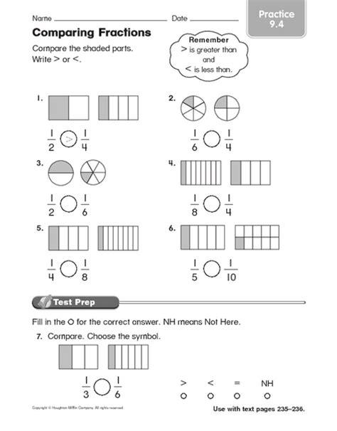number names worksheets 187 comparing fractions worksheet