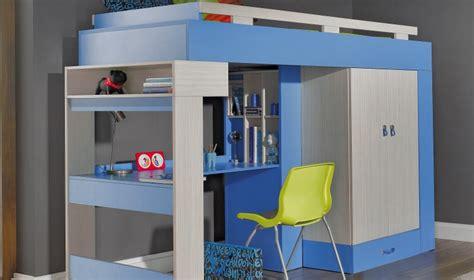 lit bureau pas cher lit combin mezzanine bleu ado pas cher avec rangements