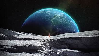 Astronaut Wallpapers Space Outer Moon Earth Surface