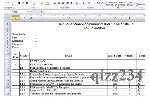 download format k7a bos