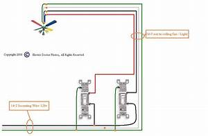 Wiring a ceiling fan with light one switch bottlesandblends