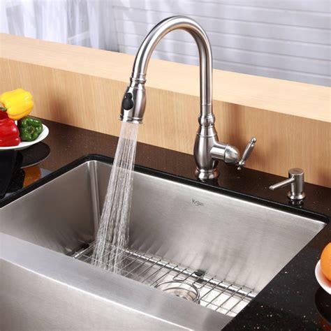 kitchen sinks dallas kraus khf200 33 33 inch farmhouse apron single bowl 16 2999