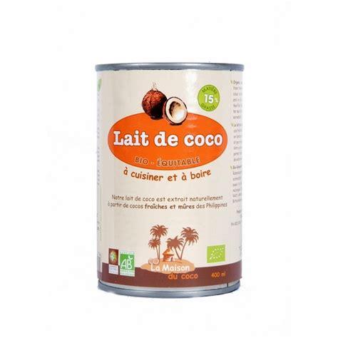 lait de coco 6 mg bio equitable 400ml la maison du coco