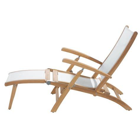 chaise jardin bois chaise longue de jardin blanche bois teck maisons