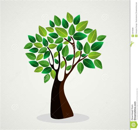 design a tree cute concept tree design stock vector illustration of leaf 32018588