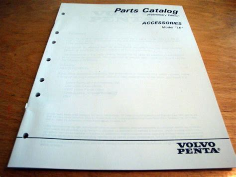 volvo penta engine sterndrive accessories parts catalog