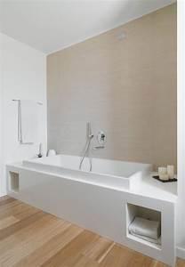 corian resine salle de bains deco design epuree blanc With salle de bain epuree