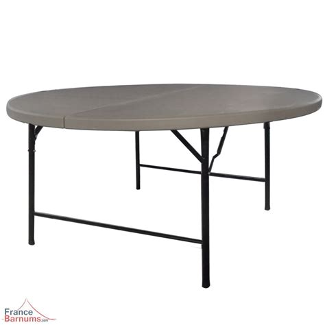 table de r 233 ception ronde grise de 152cm pliante en valise