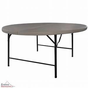 Table Pliante Valise : table de r ception ronde grise de 152cm pliante en valise ~ Melissatoandfro.com Idées de Décoration