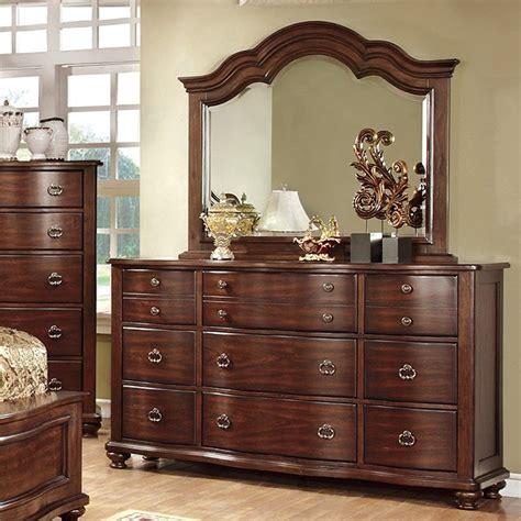 Mirror Finish Dresser by Bellavista Brown Cherry Finish Dresser Mirror