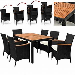 Meuble Bois Et Noir : salon de jardin polyrotin ext rieur meubles ensemble table ~ Dailycaller-alerts.com Idées de Décoration