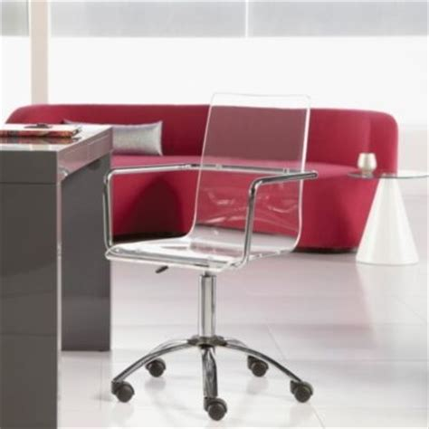 acrylic office chair w casters
