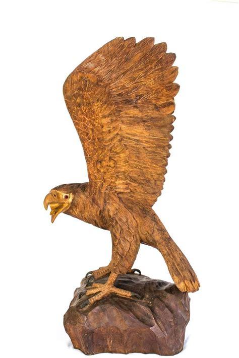 eagle sculptures for sale vintage carved wood eagle sculpture for sale at 1stdibs