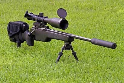 Sniper Rifle Silencer Grass Snipers Weapon Optics
