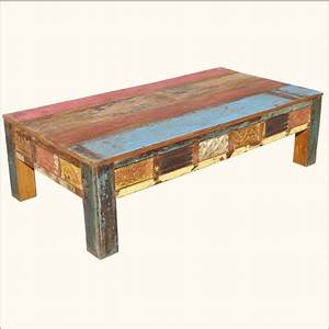 beautiful distressed wood coffee table on painted With custom size coffee table