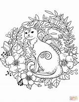 Coloring Cat Pages Cats Forest Animals Printable Sheets Adult Supercoloring Dog Nature Books Creative Paper Drawing Bible Pngio Crafts Categories sketch template