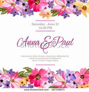 Watercolor Flower Border Stock Images, Royalty-Free Images ...