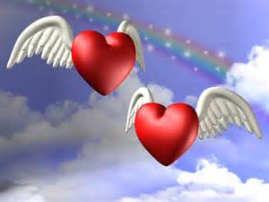 Valentine Heart with Angel Wings