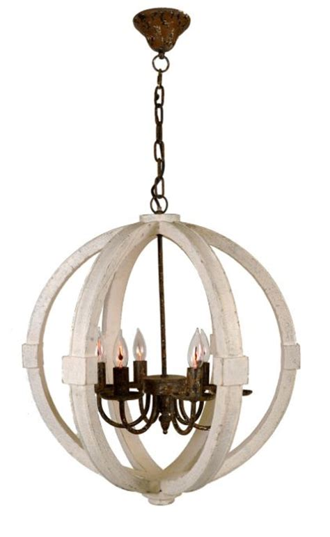 rustic orb chandelier glow warm and transitional style on
