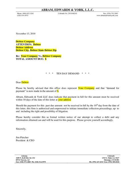 final demand letters  payment letter template medicare