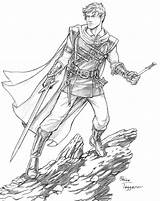 Character Elf Fantasy Drawings Deviantart Coloring Staino Dnd Line Warrior Drawing Adult Portraits Half Sketch Sketches Characters Sevrin Damned Dark sketch template