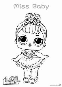 LOL Surprise Doll Coloring Pages Miss Baby Free