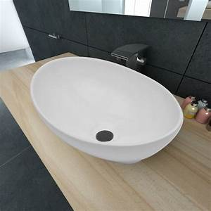 Waschbecken 80 X 40 : der keramik waschtisch waschbecken oval wei 40 x 33 cm online shop ~ Bigdaddyawards.com Haus und Dekorationen