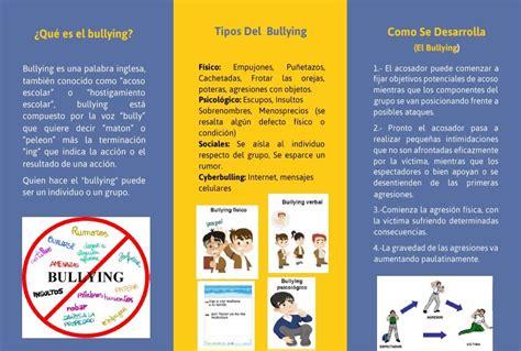 Triptico del bullying hecho en word descarga gratis