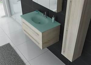 Vasque En Verre : meuble simple vasque dis983sc couleur bois distribain ~ Premium-room.com Idées de Décoration