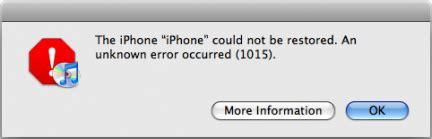 iphone error code fixing itunes error 1015 for iphone top cydia sources
