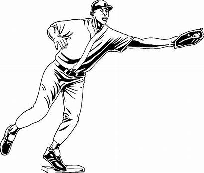 Coloring Baseball Pages Pitcher Ruth Babe Player