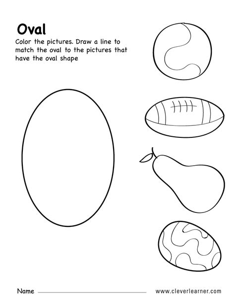 free oval shape activity worksheets for preschool children 529 | oval shape activity 6b